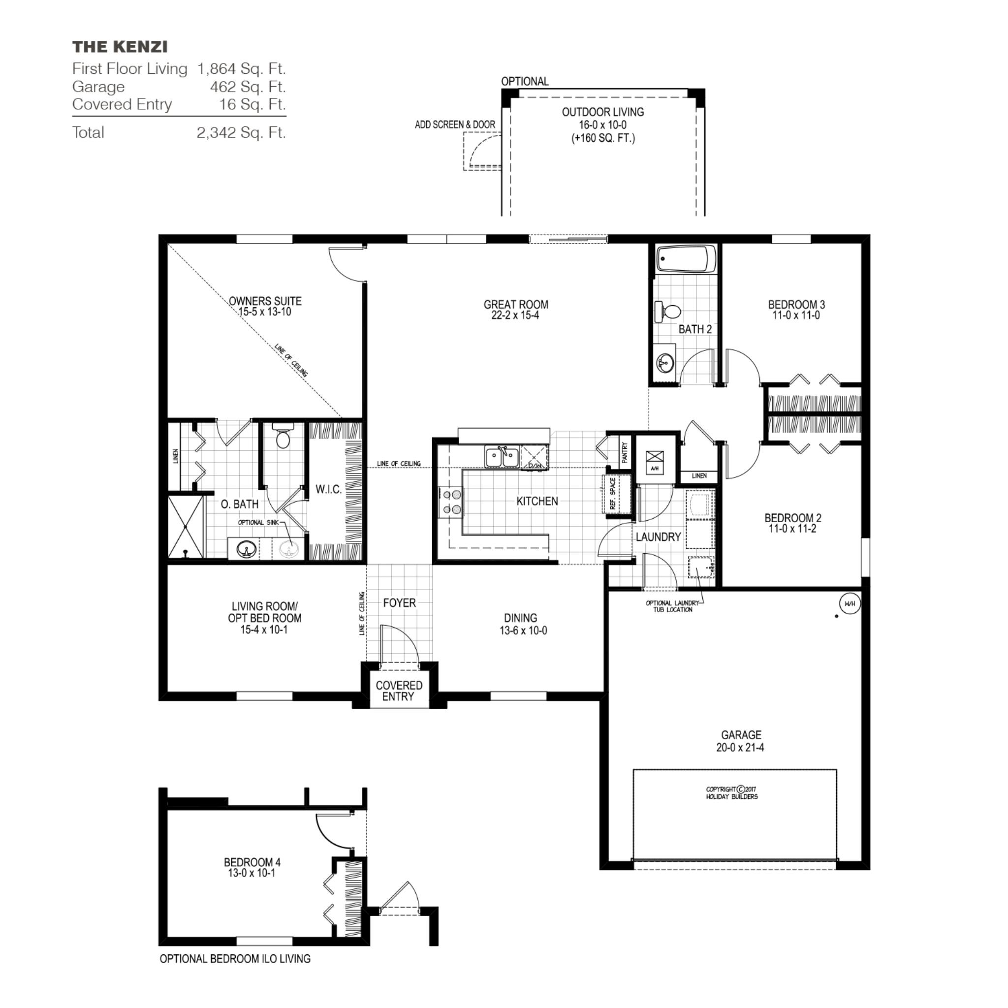 The Kenzi B Floor Plan In Palm Coast