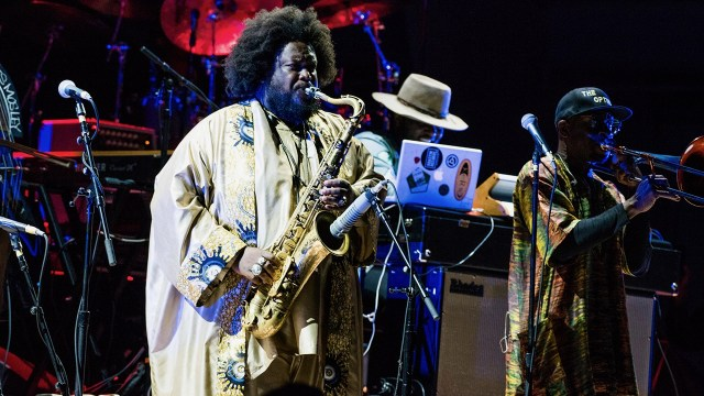 Kamasi Washington at the Hollywood Bowl in September 2018 (Photo by Annie Lesser)