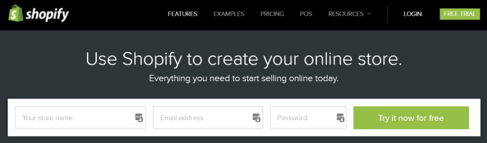 Shopify Trial to Create an Online Store
