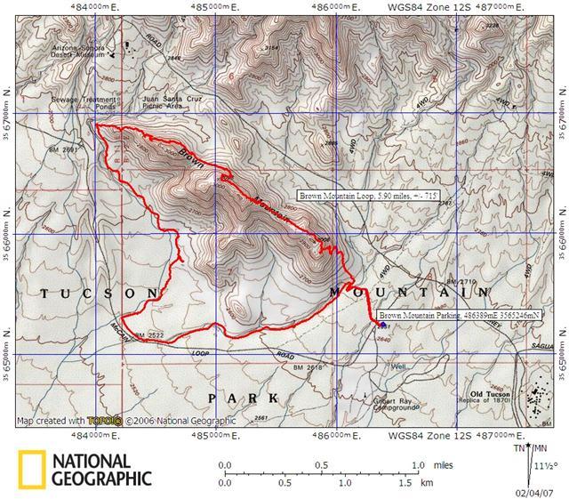 Brown Mountain Loop Map