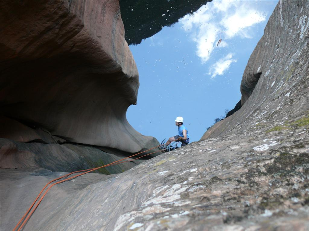 Inside Behunin Canyon