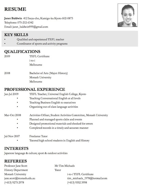 Example How To Write A Resume | Resume Format Download Pdf