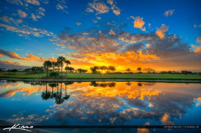 Abacoa Golf Course Sunset Jupiter Florida