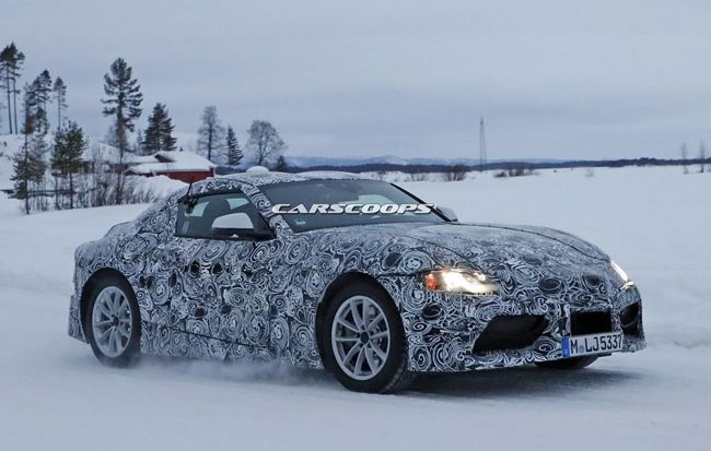 Toyota Supra is being tested