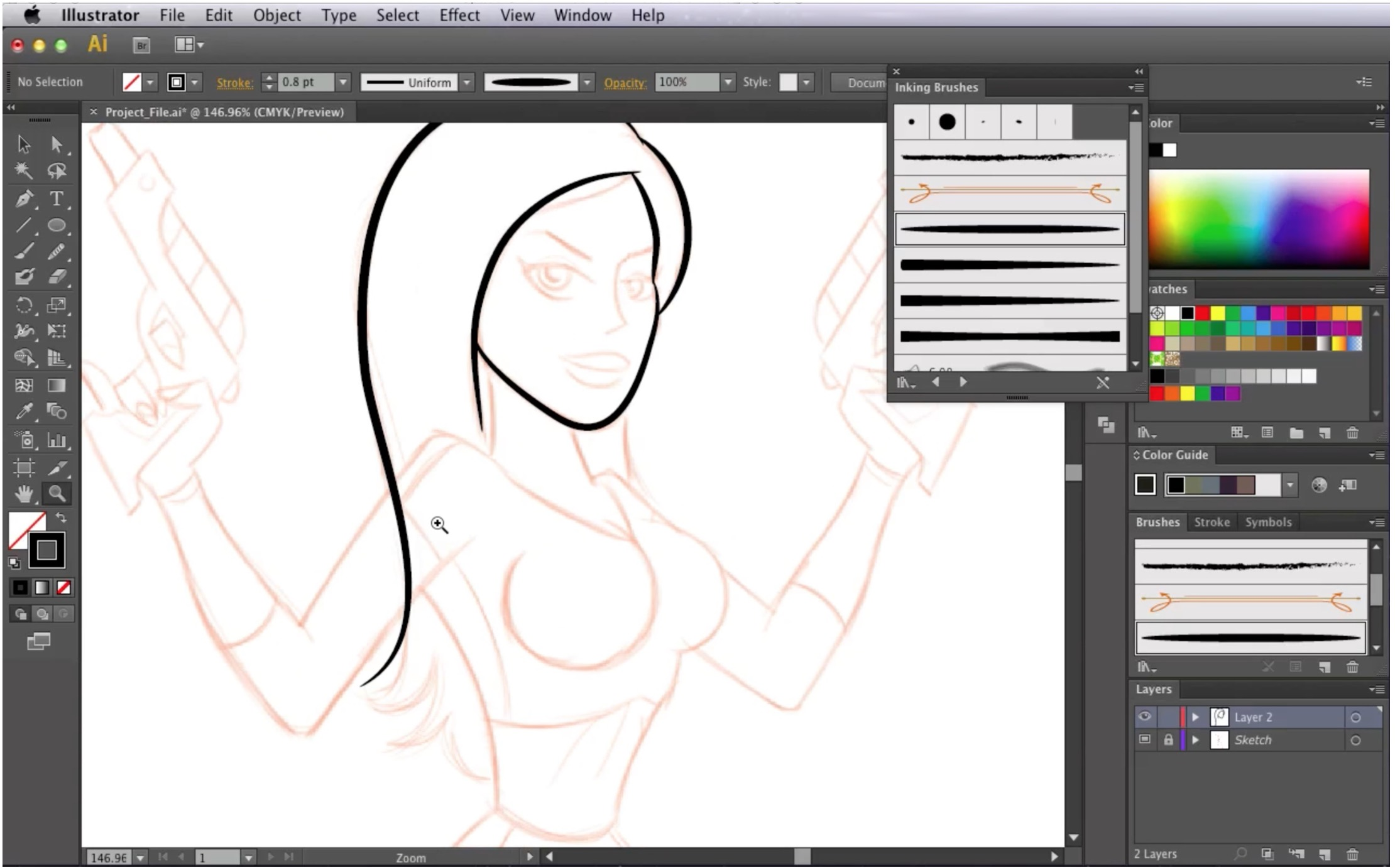 How To Draw A Pin Up Style Space Girl