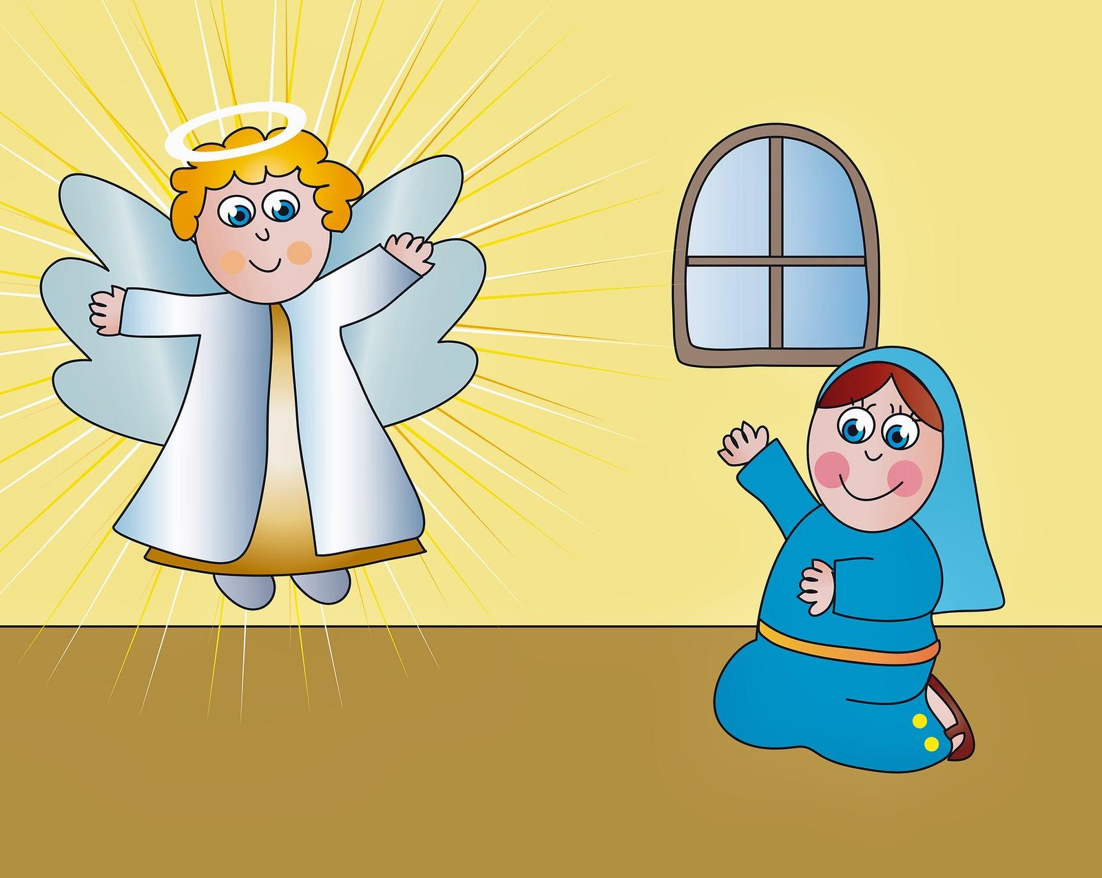 Bible Stories An Angel Visits Mary Catholic Teacher