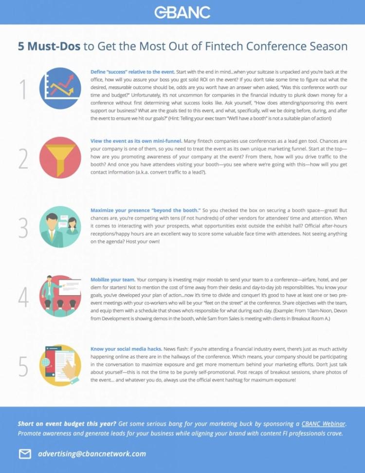 5 Must-Dos for Fintech Conf Season