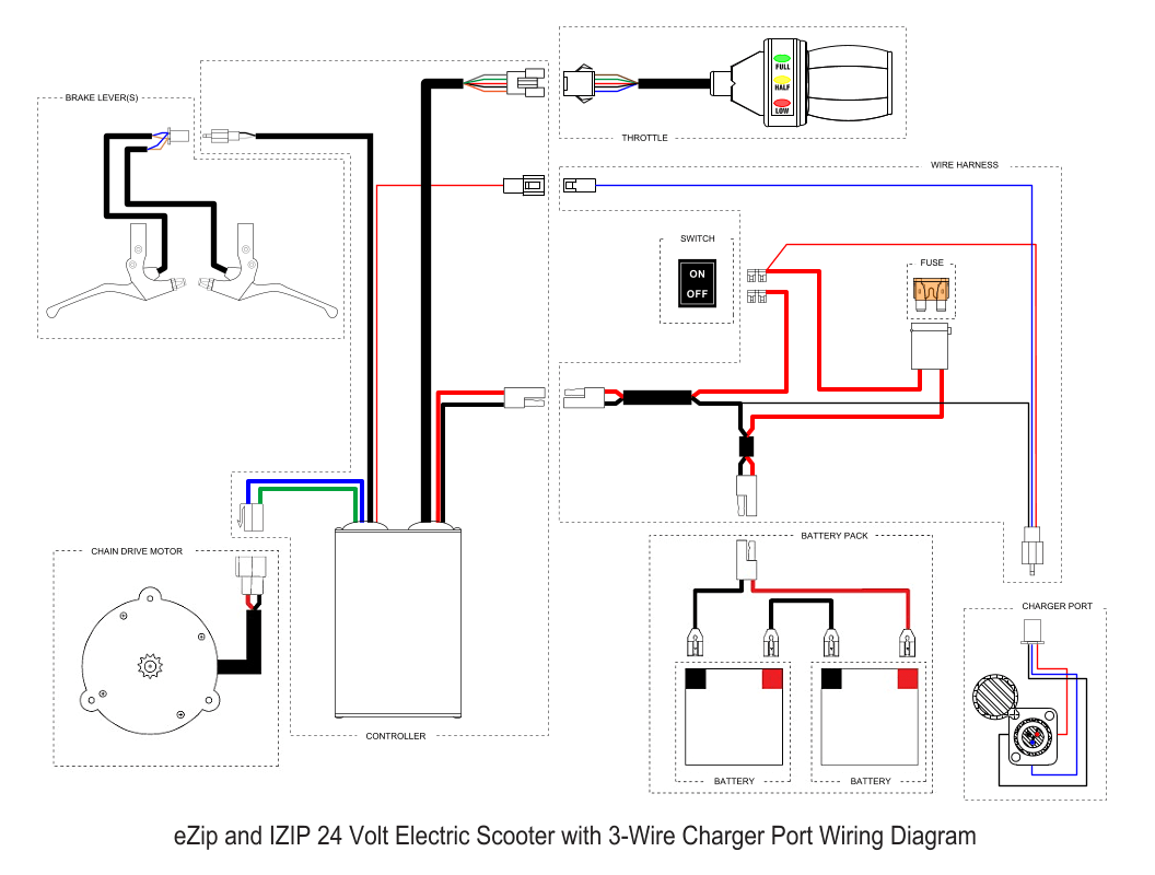 Ezip 450 electric scooter wiring diagram needed : ElectricScooterParts Support