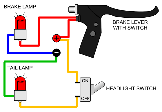 brake light  electricscooterparts support