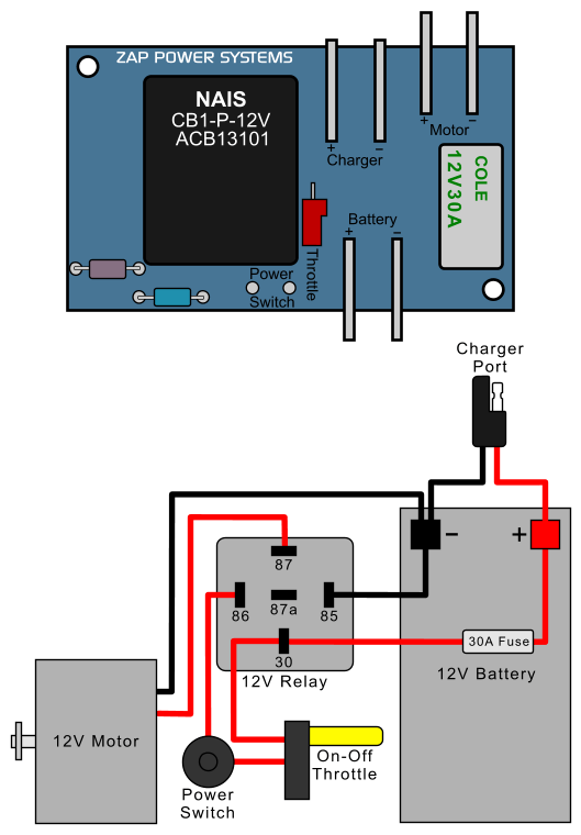 Zappy Classic Electric Scooter Relay Conversion : ElectricScooterParts Support