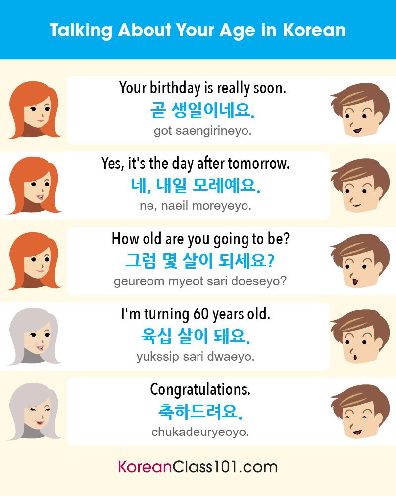 Happy Birthday In Korean More Korean Life Event Messages