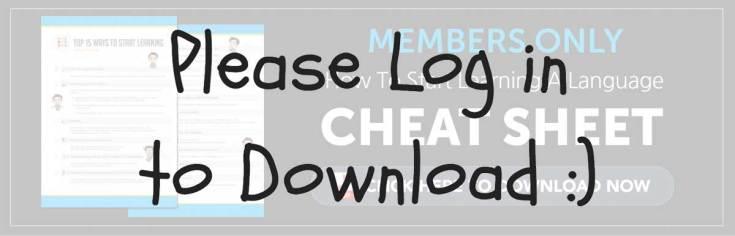 log in to download your free cheat sheet how to start learning a language - Merry Christmas In German How To Say