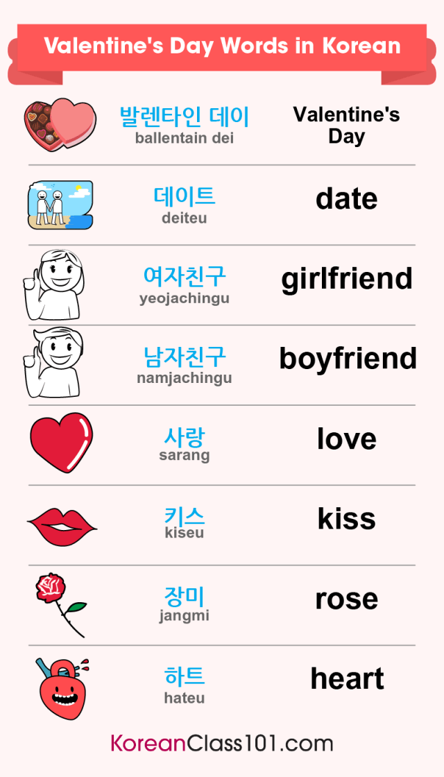 How to Say I Love You in Korean - Romantic Word List
