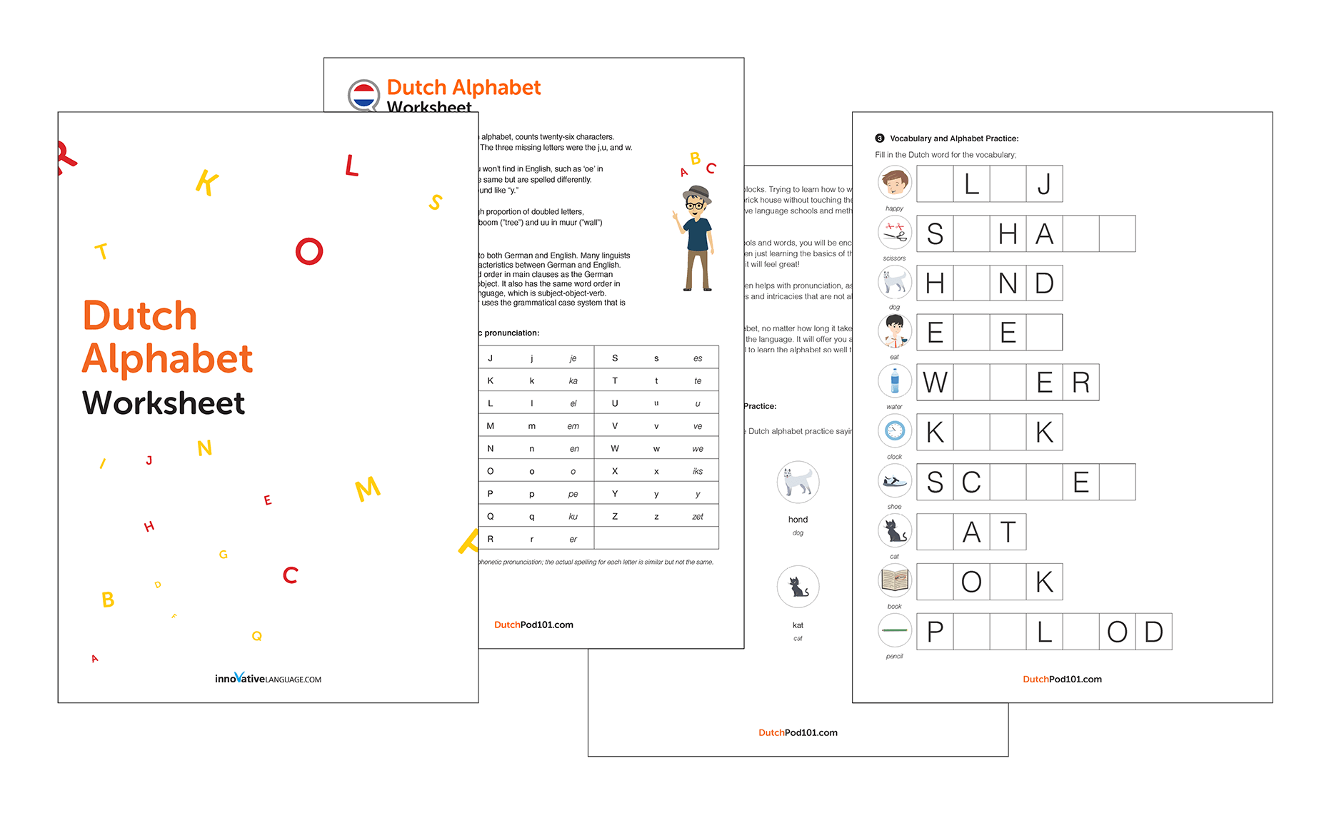Learn The Dutch Alphabet With The Free Ebook