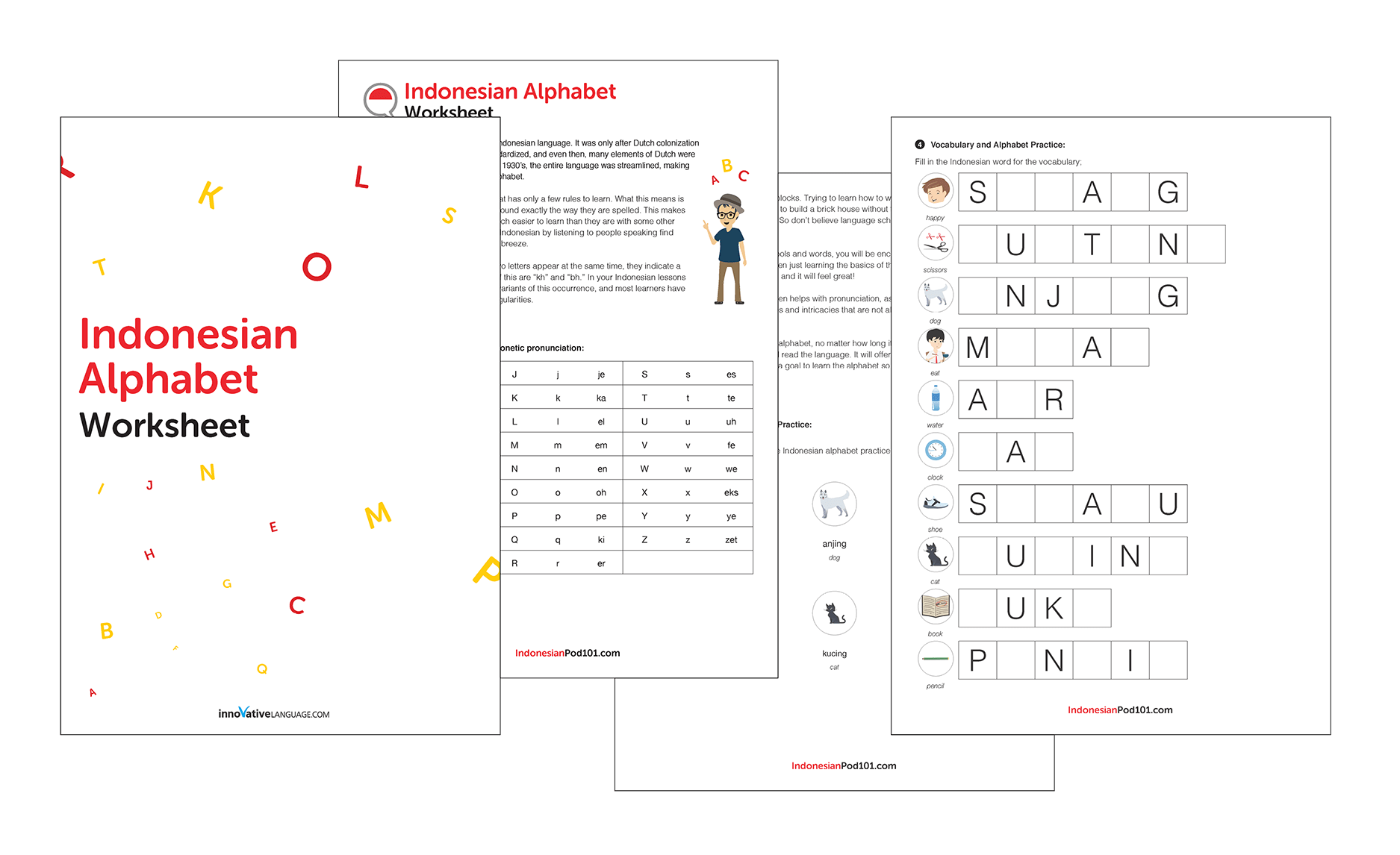 Learn The Indonesian Alphabet With The Free Ebook