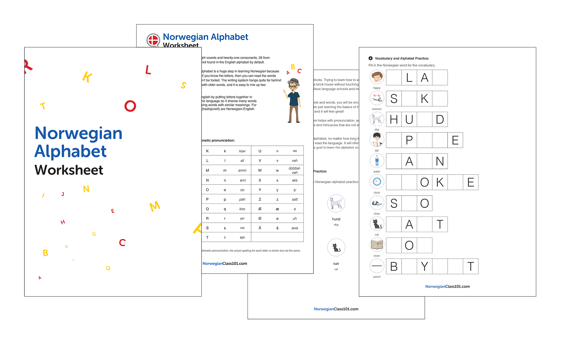 Learning Norwegian Worksheets