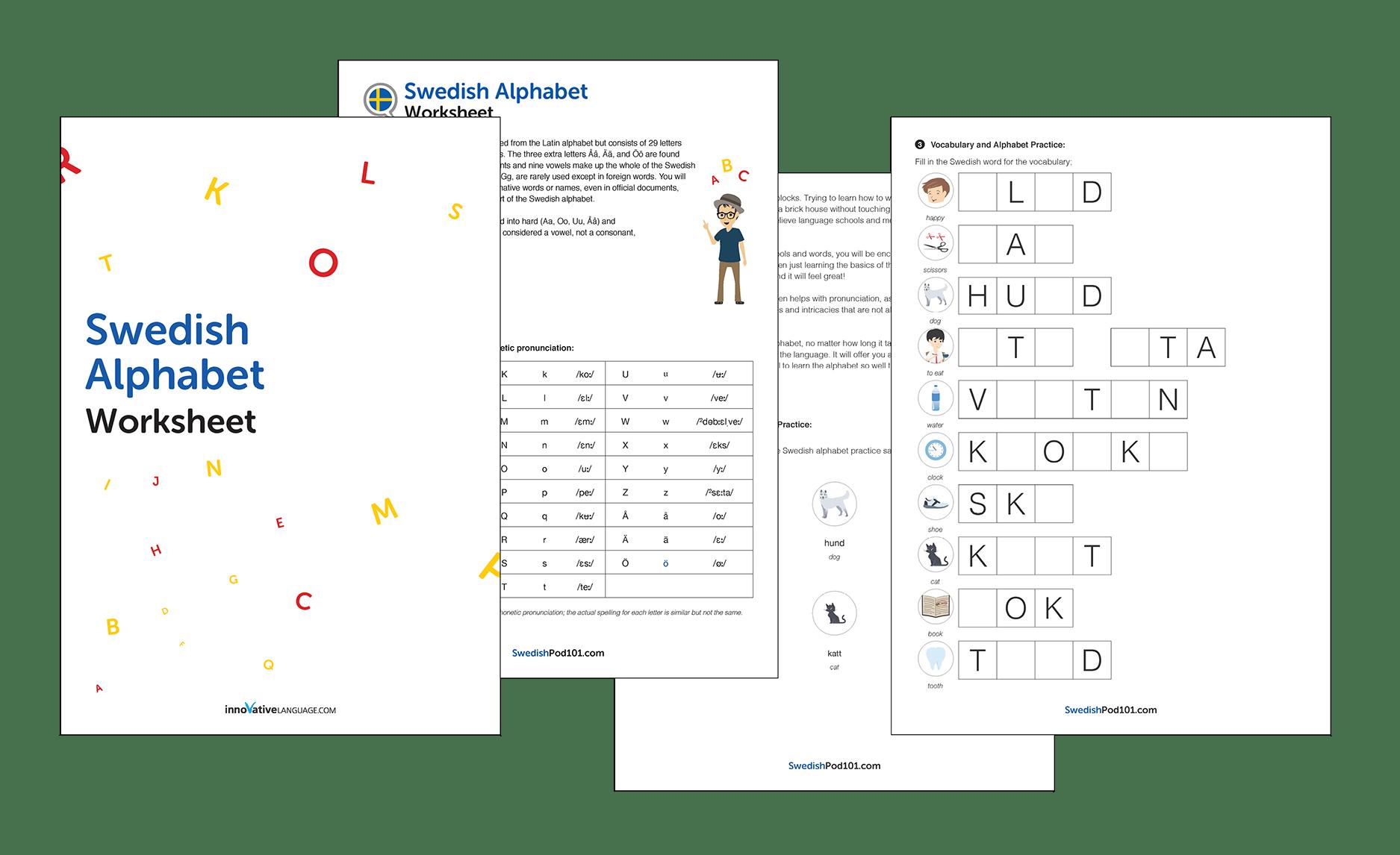 Swedish Language Worksheets