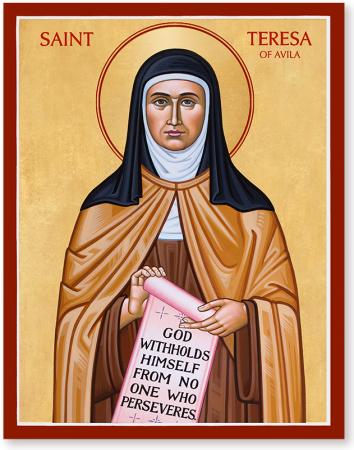 Résultat d'images pour icones de sainte thérese avila