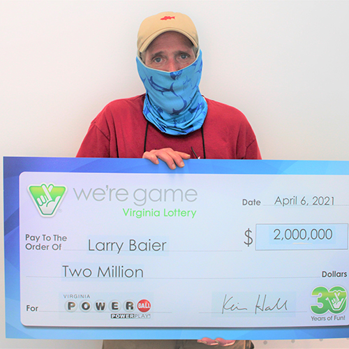 Virginia Lottery Powerball Winner Larry Baier
