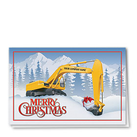 Construction Christmas Cards Christmas Excavator