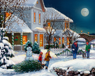 Holiday Walk Jigsaw Puzzle 1000 Piece Puzzles Vermont