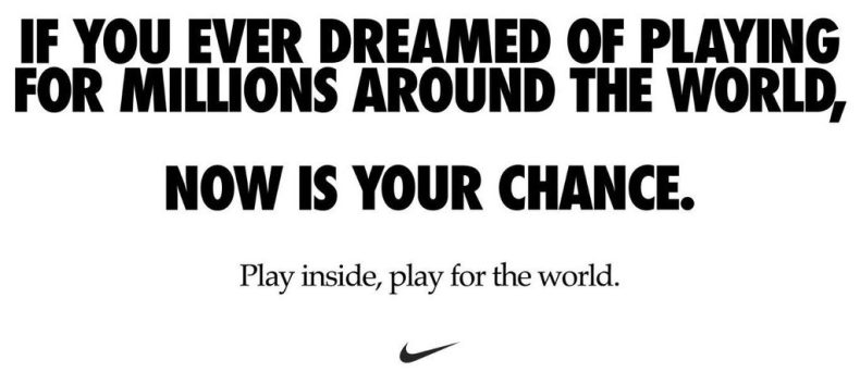 Nike - sueño deporte en casa