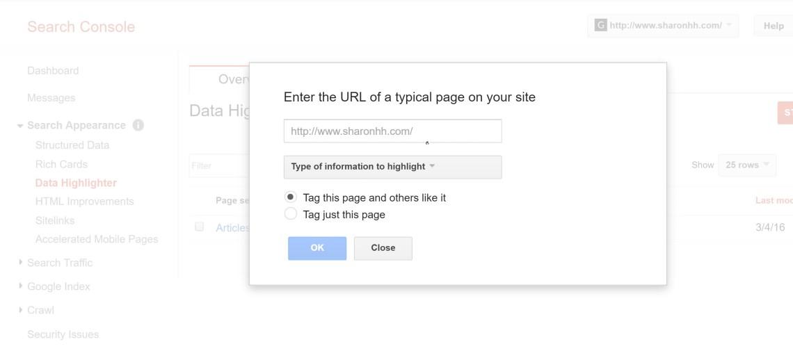 谷歌搜索控制台數據熒光筆