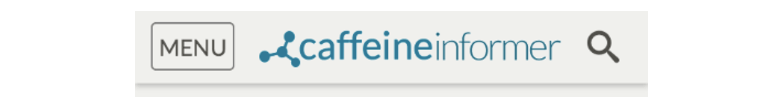 Caffeine Informer - MENU icon