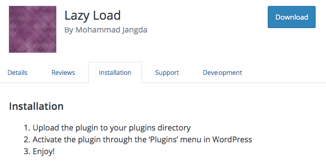speed up your website lazy load