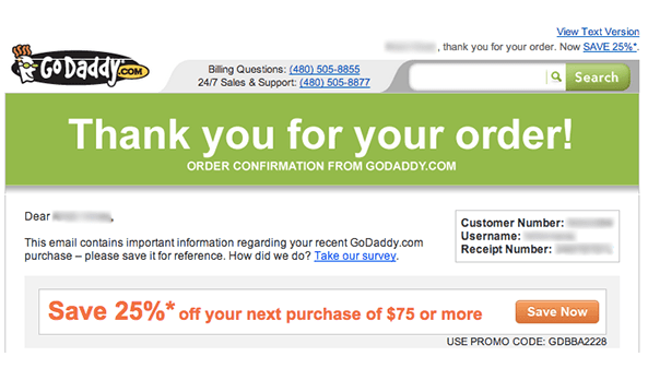 godaddy thank you