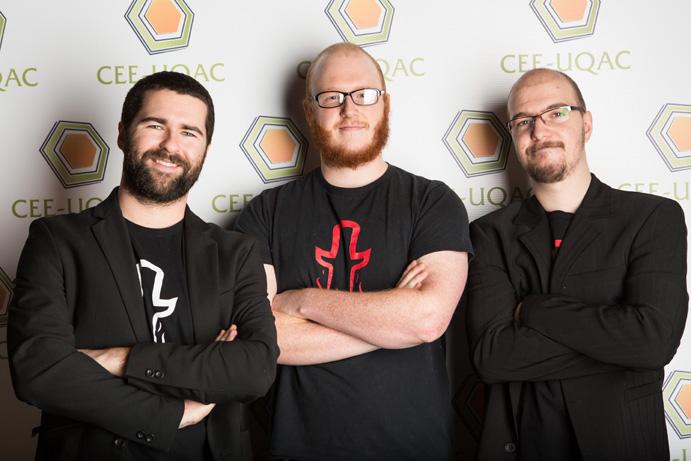 Les trois co-fondateurs du studio saguenéen: Samuel Taillon, Gabriel Le Breton et François Dessureault. Photo: courtoisie Totema Studio