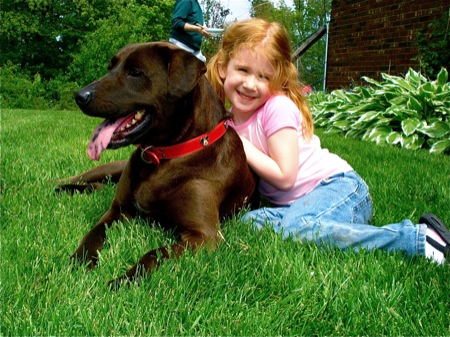 little-girls-and-big-brown-dog