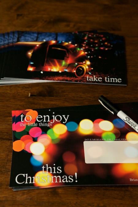 Writing Christmas Cards 2