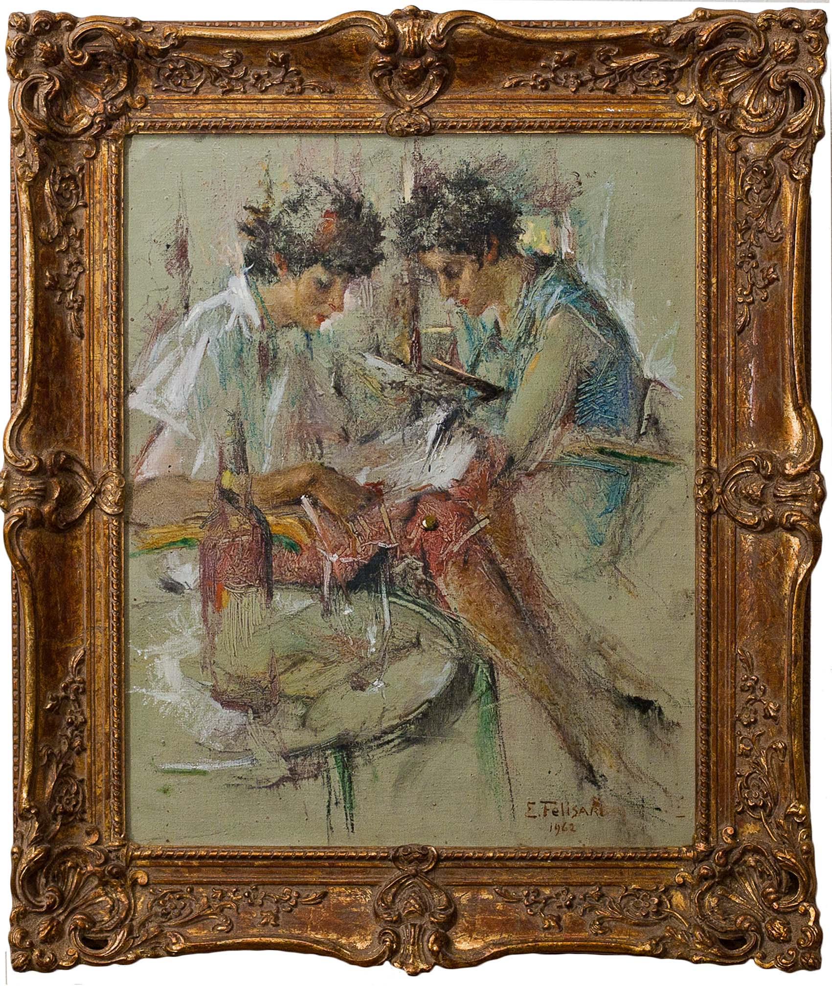 Two Women By Enrico Felisari CLS Fine Art Gallery