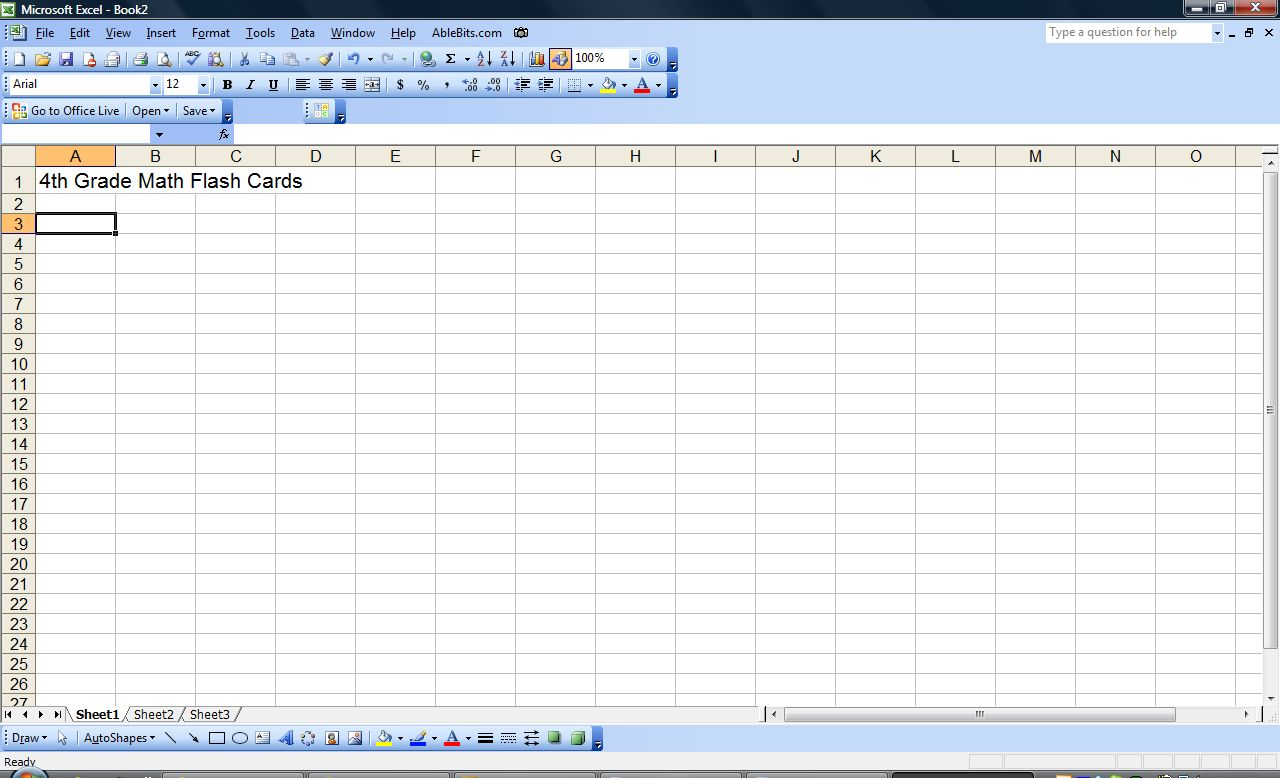 How To Make Flash Cards With Excel