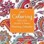 Posh Colouring 2015-2016 Planning Calendar