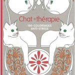 Cat Therapy - adult coloring book