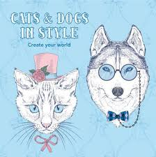 catsanddogsfeaturedimage - Cats & Dogs In Style - Coloring Book Review