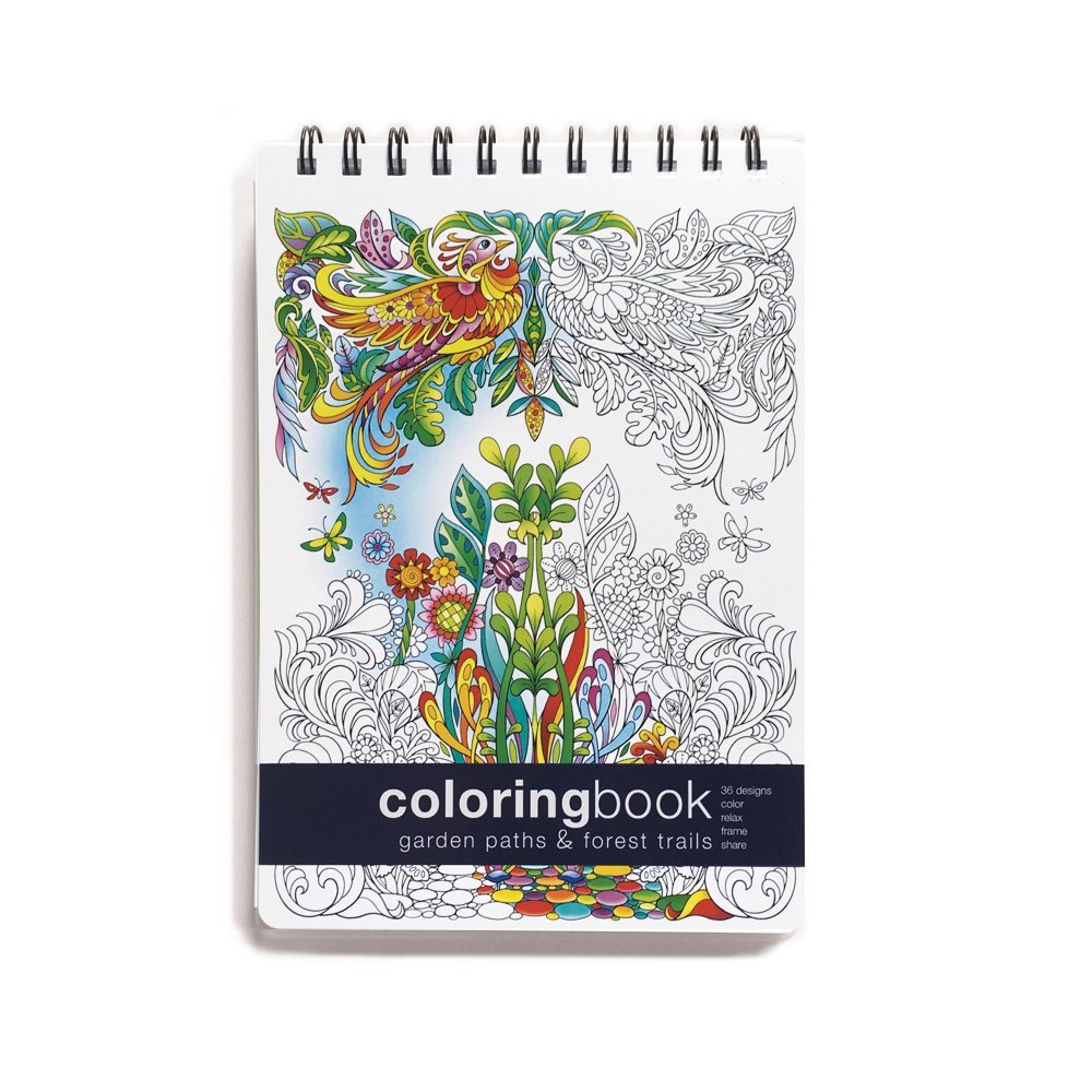 The coloring book analysis - Garden Paths Forest Trails Coloring Book Review