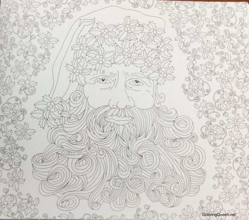 SantaClausBoookofSecretsColouringBook 1024x905 - Santa Claus The Book of Secrets Christmas Colouring Book