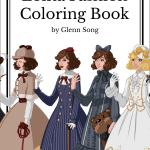 lolita fashion coloring book cover - The Time Garden A5 Notebook - Daria Song