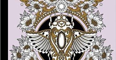 Magical Dawn Coloring Book Cover - Twilight Garden Coloring Book (aka Blomster Mandala)