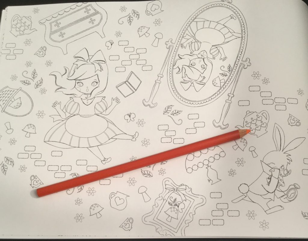 disney alice in wonderland coloring book coloring queen