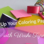 jazzingupyourcoloringpageswithwashitape - What to do with your coloring pages? Quick paper mache bowl