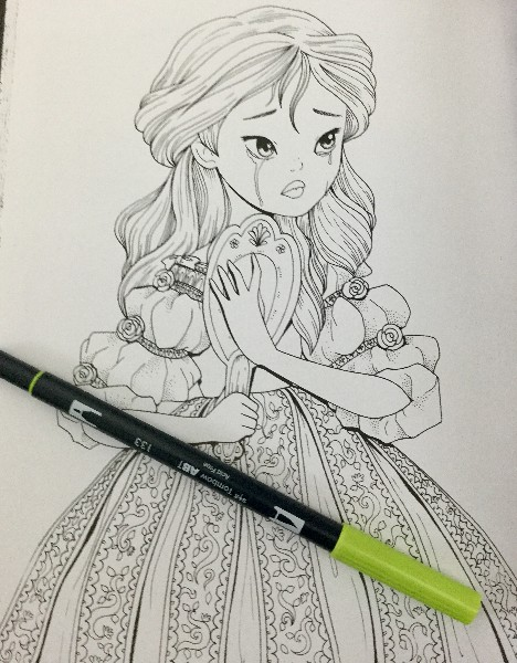 Beauty And The Beast Coloring Book Review