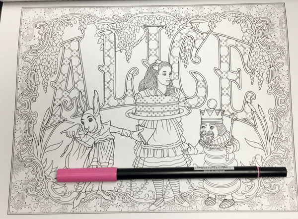 Alice in Wonderland Creative Haven 15 - Alice in Wonderland Coloring Book Review