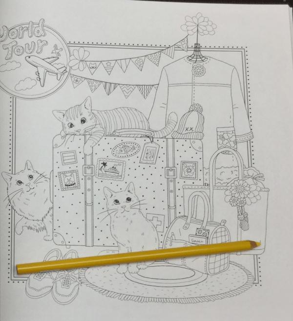 keiko cat coloring book  11 - Yasuragi no Garden - The Walking Path of a Dreaming Cat  Coloring Book Review