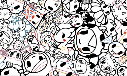 tokidoki by darby9 coloring page i traced from picture of display box
