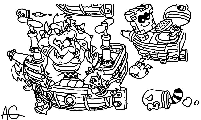 Super Mario Color Pages Az Coloring Pages Super Mario 3d World