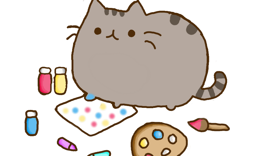 free coloring of pusheen the cat